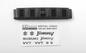 Front Grille for MST 1/10 CMX w/ Jimny J3 Body w/ Front Metal Decals