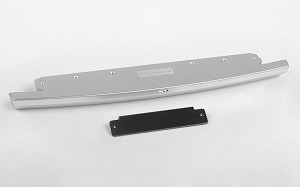 Slick Metal Front Bumper for JS Scale 1/10 Range Rover Classic Body (Silver)