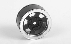 "Six-Spoke 1.55"" Internal Beadlock Wheels (Black)"