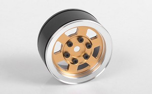 "Six-Spoke 1.55"" Single Internal Beadlock Wheel (Gold)"