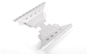 Oxer Transfer Case Guard for Axial Capra 1.9 Unlimited Trail Buggy (Silver)