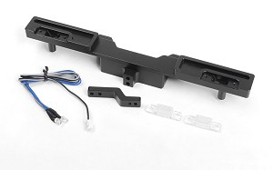 Oxer Rear Bumper w/ Towing Hook, Brake Lenses and LED Lights for Traxxas Mercedes-Benz G 63 AMG 6x6