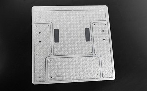 Steel Rear Bed Diamond Plates for RC4WD Gelande II 2015 Land Rover Defender D90 (Pick-Up)