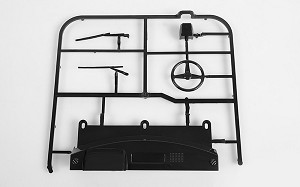 RC4WD Mojave II Dash and Wiper Parts Tree (Black)