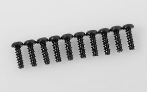 Button Head Self Tapping Screws M2.5 X 8mm (Black)