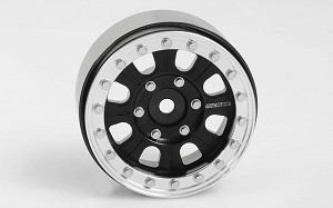 "RC4WD Raceline Monster 1.7"" Beadlock Wheels (Black/Silver)"