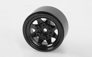 "Stamped Steel 1.0"" Stock Beadlock Wheels (Black)"