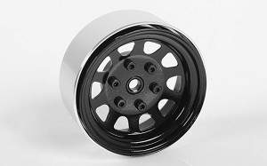 "Stamped Steel 1.7"" Beadlock Wagon Wheels (Black)"