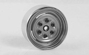 "Vintage Yota 6 Lug Stamped Steel 1.55"" Beadlock Wheels (Clear)"
