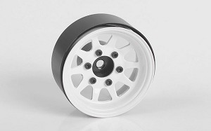 "OEM 6-Lug Stamped Steel 1.55"" Beadlock Wheels (White)"