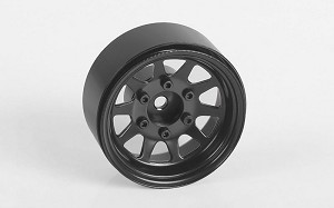 "OEM 6-Lug Stamped Steel 1.55"" Beadlock Wheels (Black)"