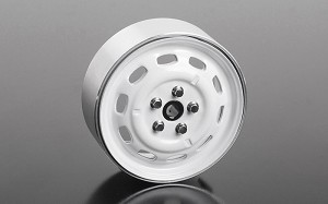 "Stamped Steel 1.7"" 10-Oval Hole Wheels (White)"