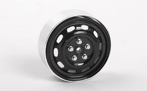 "Stamped Steel 1.7"" 10-Oval Hole Wheels (Black)"