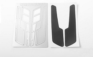 Metal Hood Vents for Axial SCX10 XJ (Silver Style B)