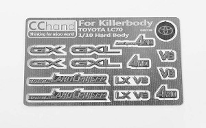 Metal Emblems for Toyota Killerbody LC70