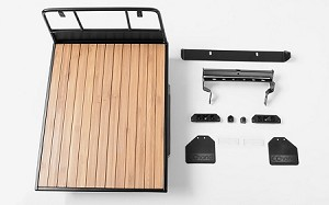 Wood Flatbed w/Mudflaps for RC4WD TF2 LWB Toyota LC70
