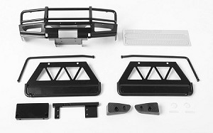 Trifecta Front Bumper, Sliders and Side Bars for Land Cruiser LC70 Body (Black)
