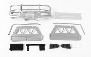 Trifecta Front Bumper, Sliders and Side Bars for Land Cruiser LC70 Body (Silver)