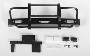 Kangaroo Front Bumper w/Lights for Mojave II 2/4 Door Body Set (Black)