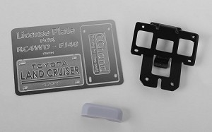 Rear License Plate System for RC4WD G2 Cruiser