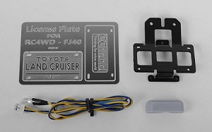 Rear License Plate System for RC4WD G2 Cruiser (w/LED)