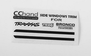 Front Side Window Trim for Traxxas TRX-4 '79 Bronco Ranger XLT