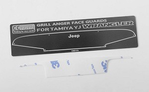 Angry Face Grille Plate for Tamiya CC01 Jeep Wrangler