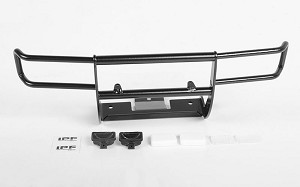 Ranch Front Grille Guard W/Lights for Tamiya 1/10 Isuzu Mu Type X CC-01 (Black)