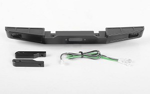 Front Winch Bumper W/LED Lights for Traxxas TRX-4 '79 Bronco Ranger XLT (Black)