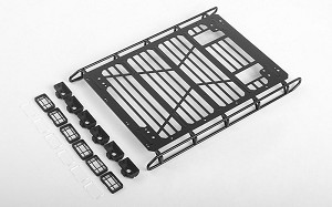 Adventure Roof Rack w/ Front and Rear Lights for Traxxas TRX-4 Mercedes-Benz G-500