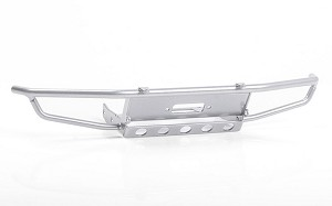 Guardian Steel Front Winch Bumper for Axial 1/10 SCX10 II UMG10 (Silver)