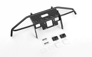 Guardian Steel Front Winch Bumper w/ IPF Lights for Axial 1/10 SCX10 II UMG10 (Black)