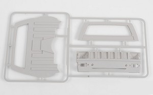 RC4WD Mojave II Cab Back Panels and Grill Parts Tree (Primer Gray)