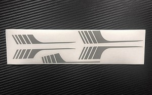 RC4WD Surf Stripes for 1985 4Runner Sheet - Grey