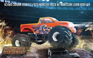 RC4WD Carbon Assault 1/10th Monster Truck w/ Manticore Lexan Body Set