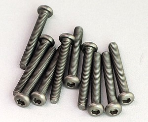 Titanium Hex Socket Screws M3x22mm (10)