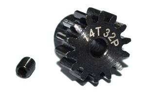 14t 32p Hardened Steel Pinion Gear