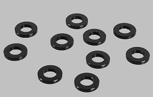 1mm Black Spacer with M3 Hole (10)