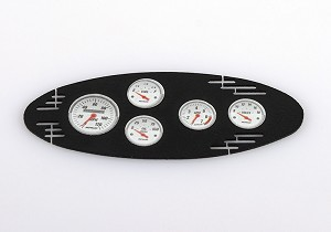 1/8 Black Instrument Panel with Instrument Decal Sheet (Style A)