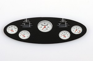 1/8 Black Instrument Panel with Instrument Decal Sheet (Style C)