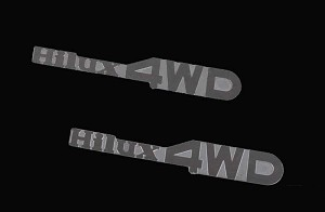 1/10 Hilux 4WD Emblem Set for Mojave and Hilux Body