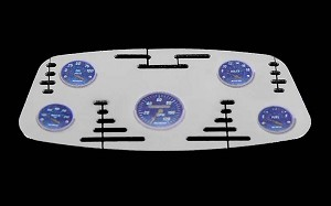 1/8 Chrome Instrument Panel with Instrument Decal Sheet (Style B)