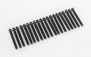 RC4WD Miniature Scale Hex Bolts (M2 x 16mm) (Black)