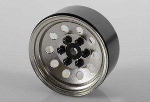 "Pro10 1.9"" Steel Stamped Beadlock Wheel (Silver)"