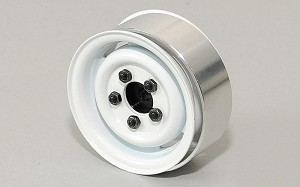 "1.55"" Landies Vintage Stamped Steel Beadlock Wheels (White)"
