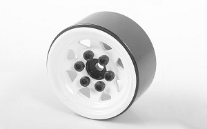Stamped Steel 1.0'' Stock Beadlock Wheels (White)