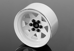 "6 Lug Wagon 2.2"" Steel Stamped Beadlock Wheels (White)"