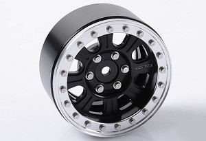 "RC4WD Raceline Monster 1.9"" Beadlock Wheels (Black/Silver)"