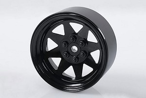 "6 Lug Wagon 2.2"" Steel Stamped Beadlock Wheels (Black)"