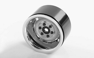 "Rally 1.9"" Beadlock Wheels (Silver)"